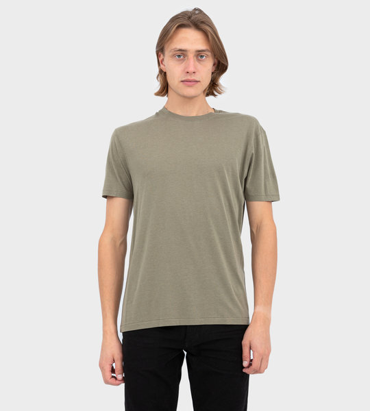 Viscose And Cotton T-shirt Light Military