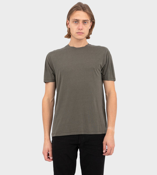 Viscose And Cotton T-shirt Military