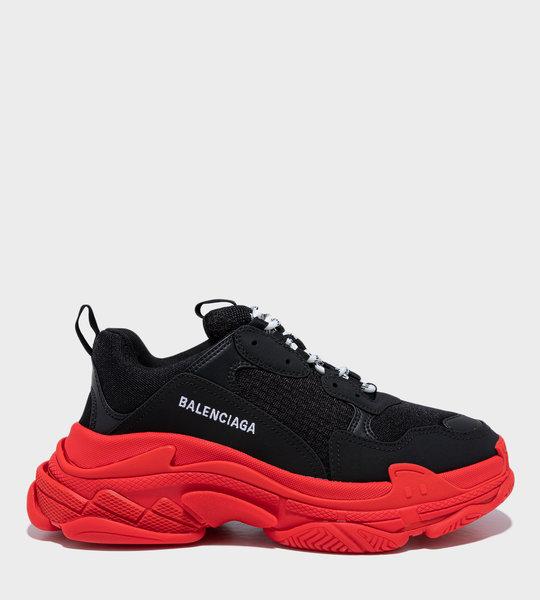Triple S Sneakers Black/Red