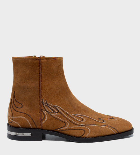 Western Flame Boots Brown