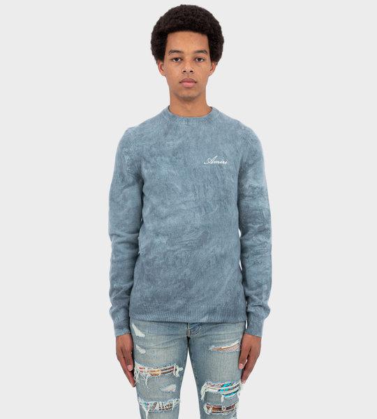 Tie-Dye Marble Sweater Blue
