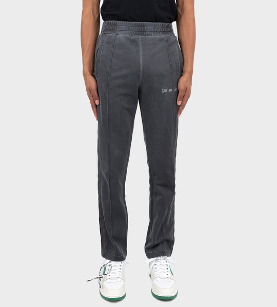 Garment Dyed Track Pants Black