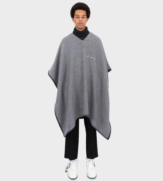 Poncho Light Grey