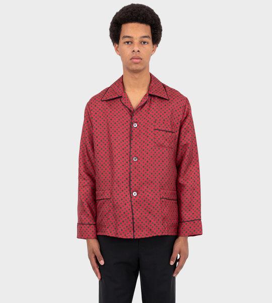 Tie Print Poplin Shirt