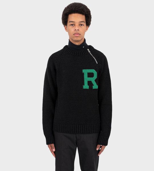 Raglan Sleeved Sweater Black