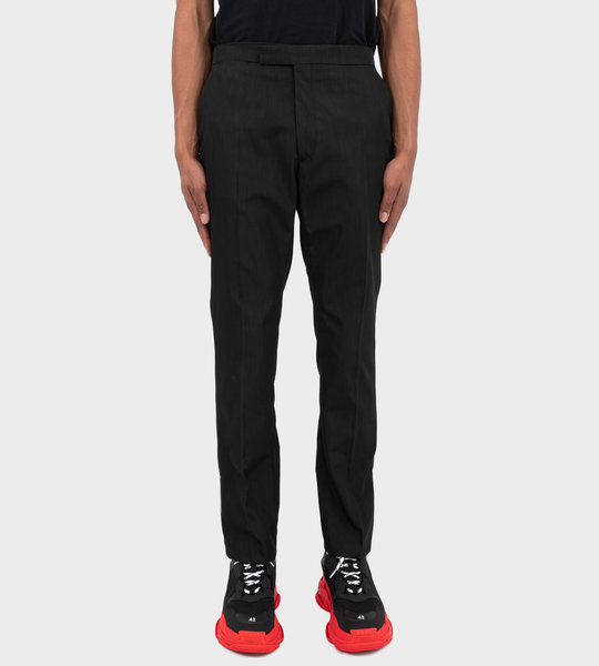 Slim-Fit Pants With Ankle Zippers Black