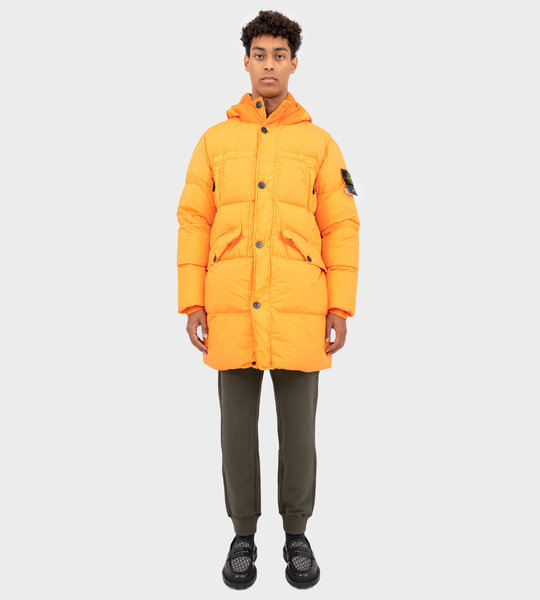 70123 Garment Dyed Crinkle Reps NY Down Orange