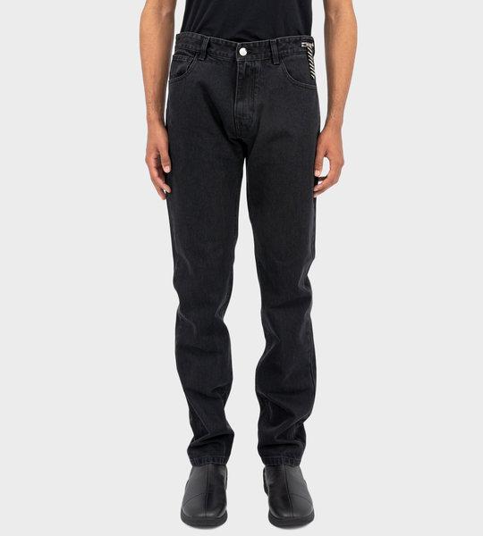 Zip Detail Jeans Black