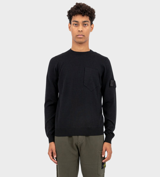 505A4 Catch Pocket Crewneck Black