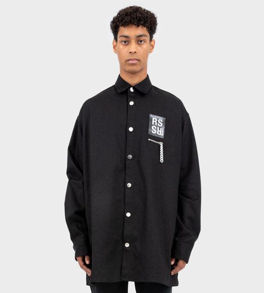 Zip Detail Shirt Black