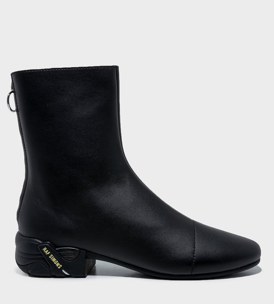 Block Heel Ankle Boots Black