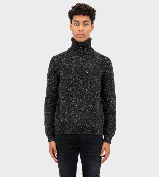 Turtleneck Knitted Jumper Grey