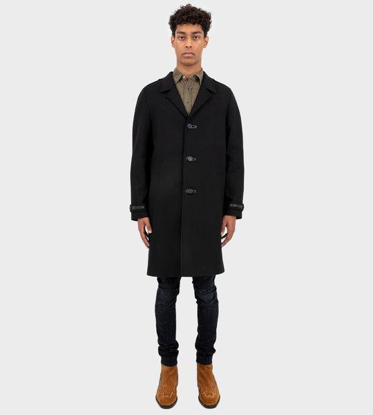 Chesterfield Wool Coat Black