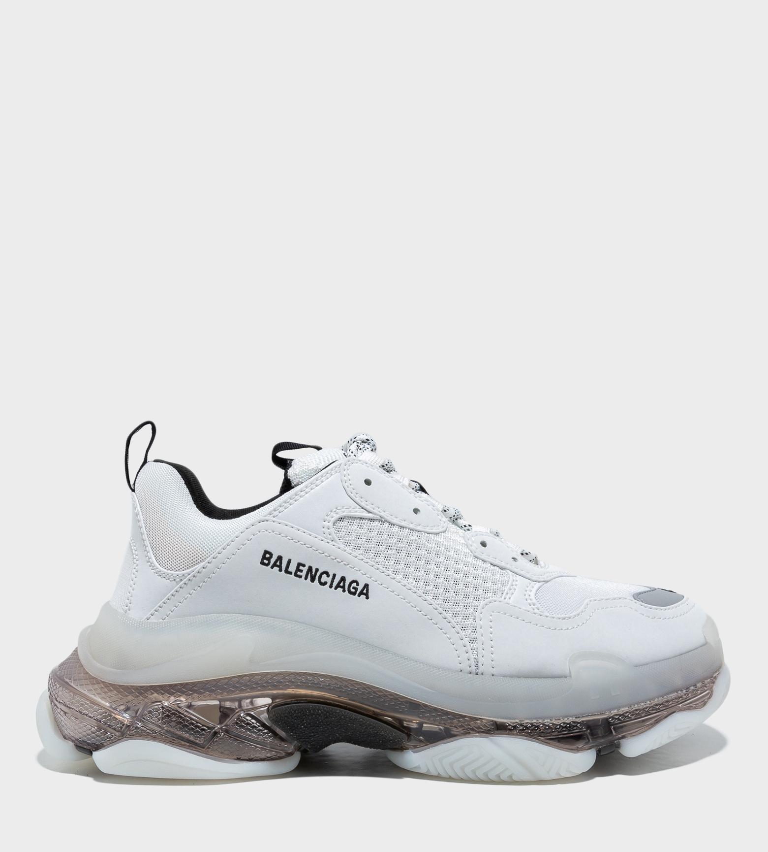 BALENCIAGA Triple S Clear Sole Sneakers White