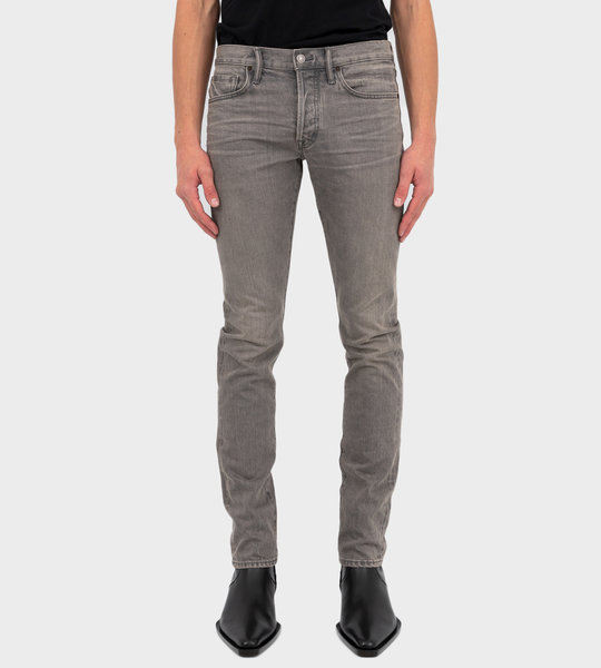 Straight Fit Stretch Japanese Selvedge Denim Grey