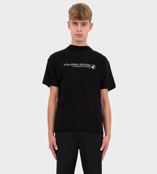 Airlines T-Shirt SS Black