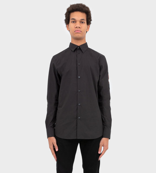 Shirt With Back Patch Black