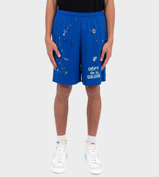 French Logo Gym Shorts Blue