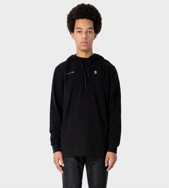 6 Moncler Genius 1017 X ALYX 9SM Hooded LS Maglia T-shirt Black