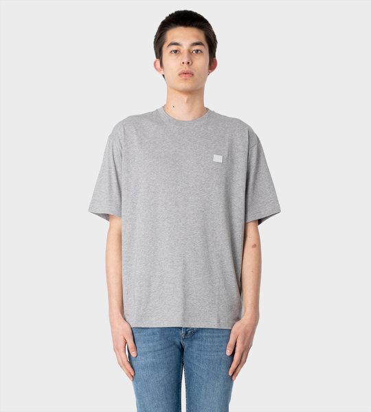 Crew Neck T-shirt Light Grey Melange