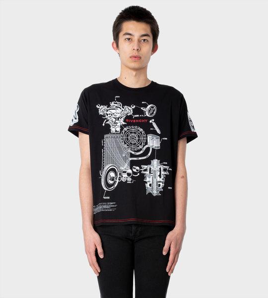 Schematics T-shirt Black