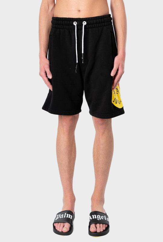 Burning Head Shorts Black Yellow
