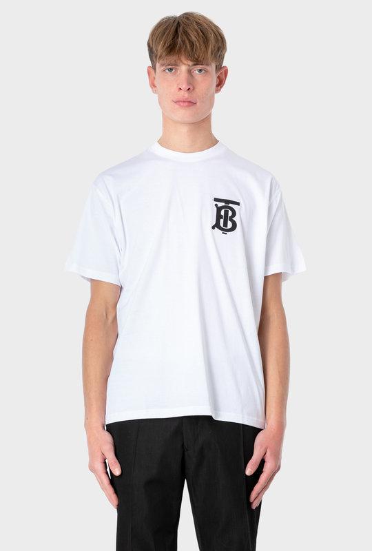 Monogram Motif Cotton Oversized T-shirt White