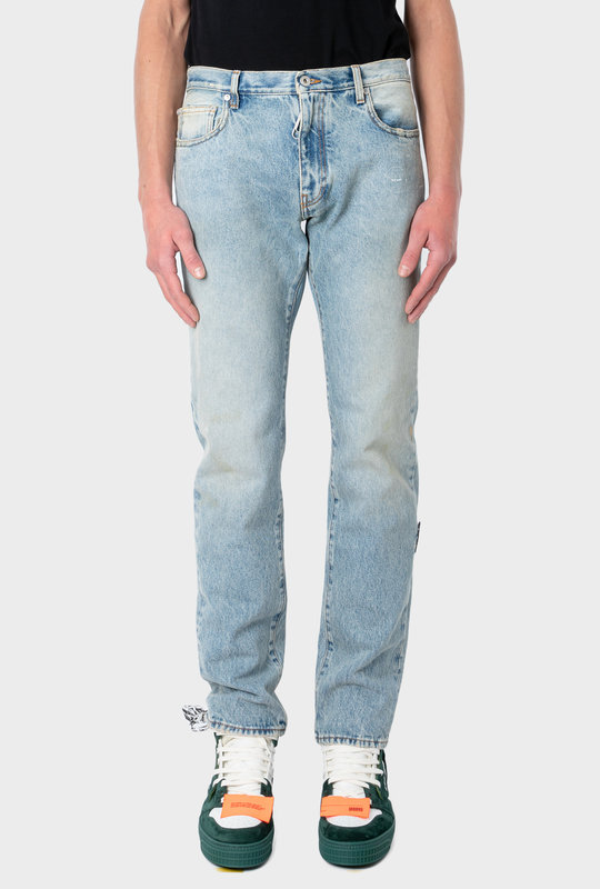 Bleached Blue Skinny Fit Jeans