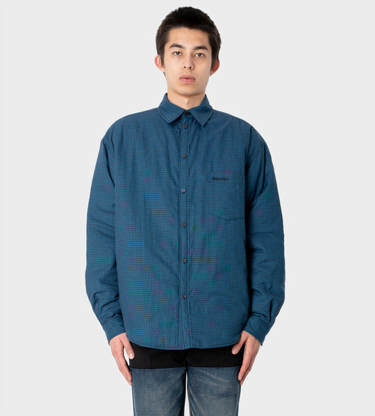 Padded Checked Cotton-Flannel Shirt Multi