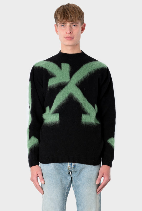 Arrows Motif Intarsia Knit Jumper