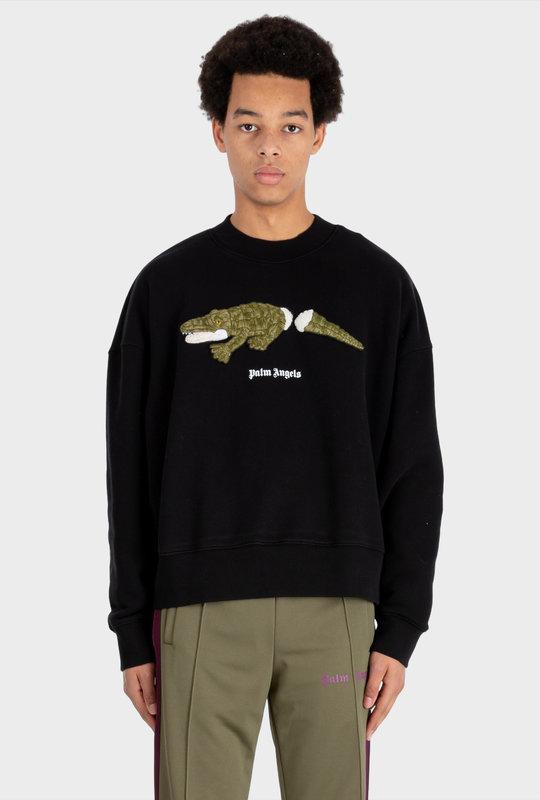 Croco Sweatshirt Black