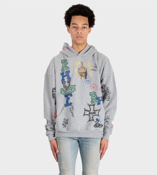 Doodle Hoodie Grey