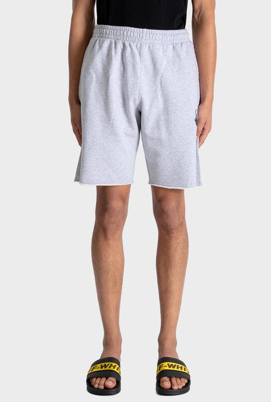 Marker Diagonals Sweatshorts Grey