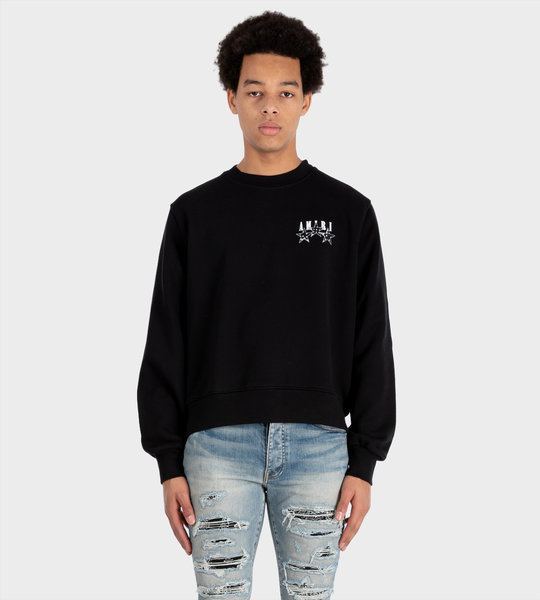 Amiri Bandana Stars Sweatshirt Black