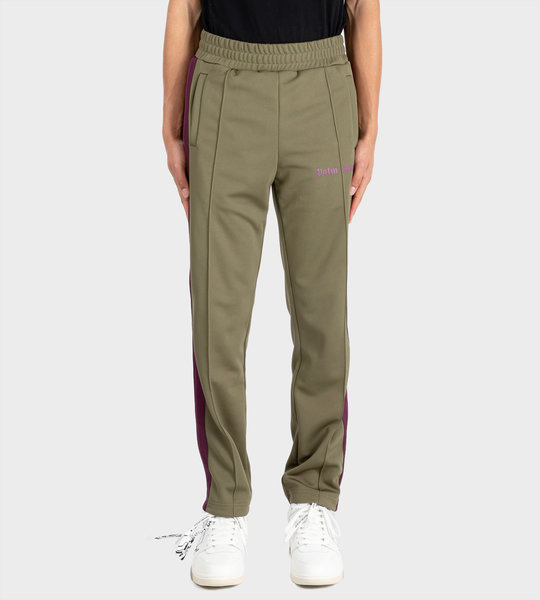 Side Panel Track Pants Green