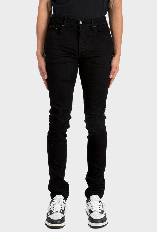 Distressed Skinny-cut Jeans Black