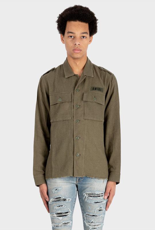 Cashmere Military Shirt Green