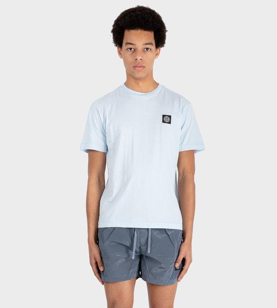 Compass Patch T-shirt Sky Blue