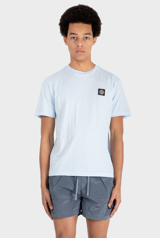 Compass Patch T-shirt Sky Blue