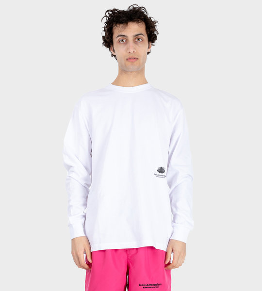 Cut L/S T-Shirt White