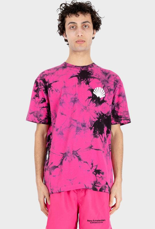 Logo T-shirt Tie-Dye Magenta/ Black