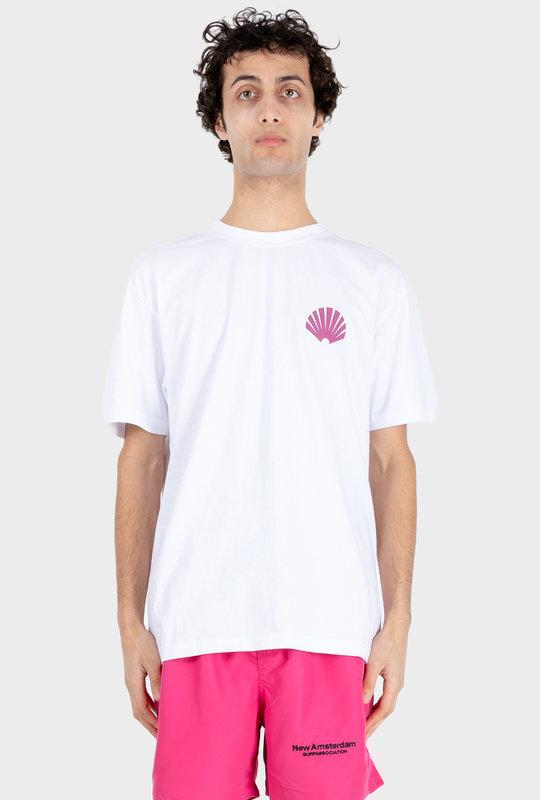 Logo T-shirt White/ Purple