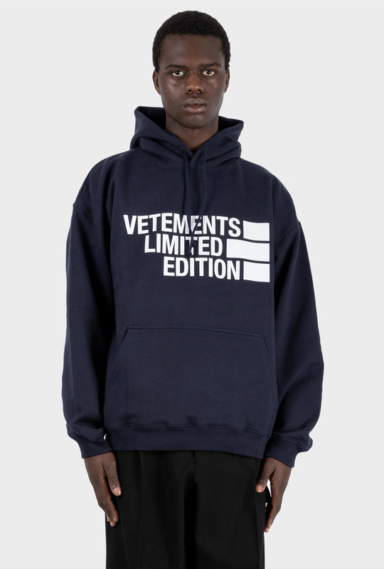 Limited Edition Logo Hoodie Blue