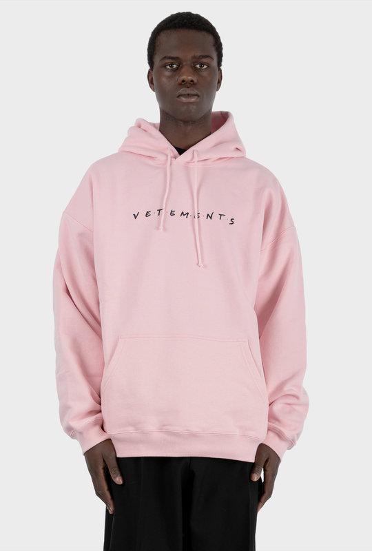 Oversize Friendly Logo Hoodie Pink