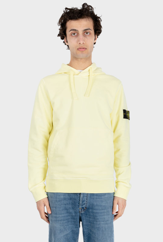Plain Logo Patch Hoodie Yellow