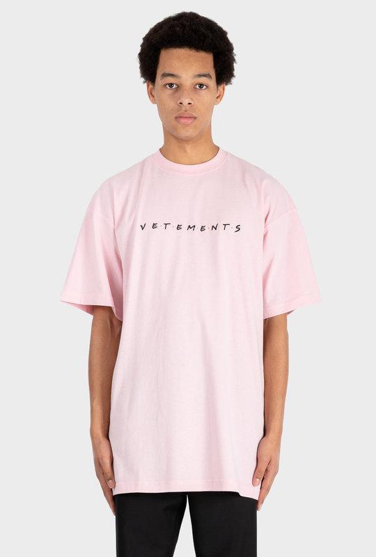 Oversized Friendly Logo T-Shirt Pink
