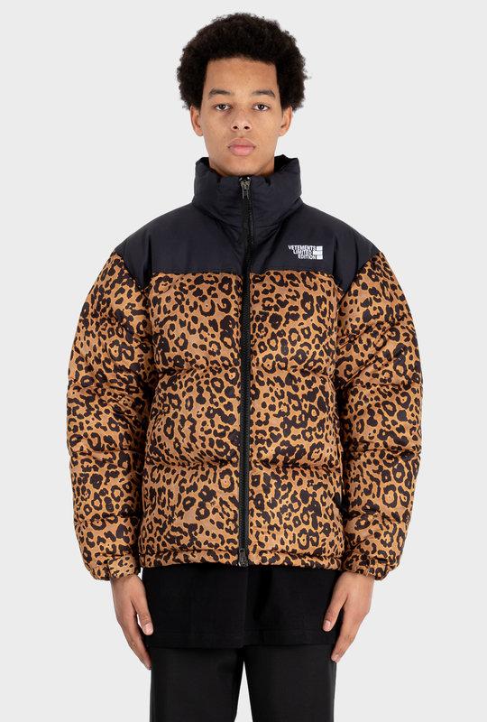 Leopard Print Padded Jacket Multi