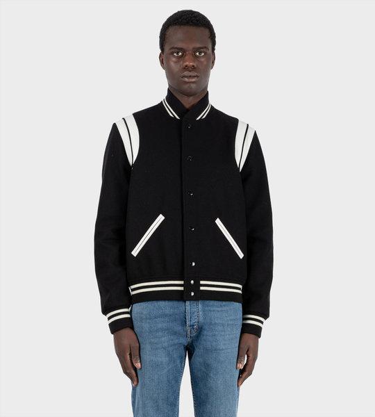 Teddy Bomber Jacket Black