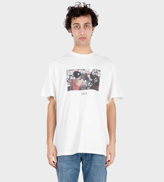 Poker T-shirt White