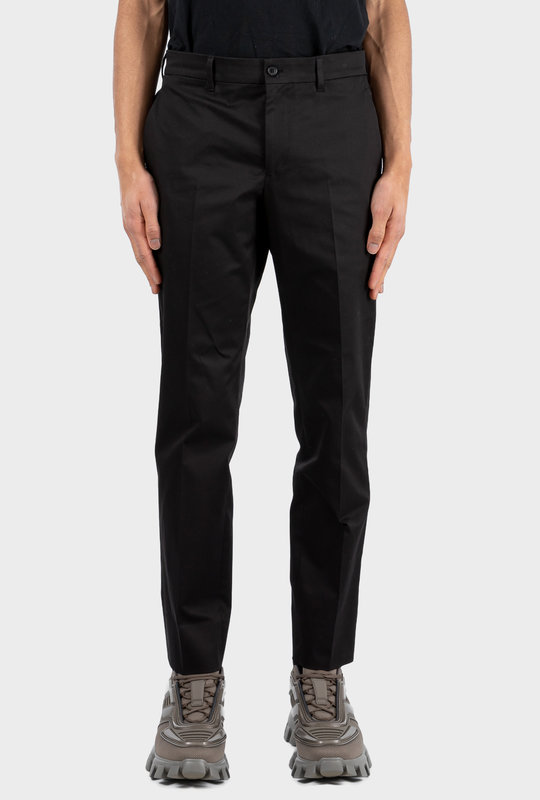 Stretch Gabardine Trousers Black